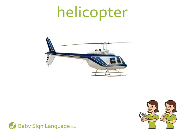 Helicopter Baby Sign Language Flash card