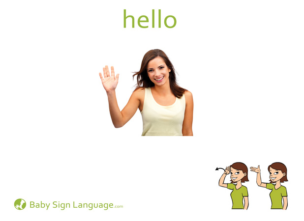 photo about Sign Language Flash Cards Printable called Howdy