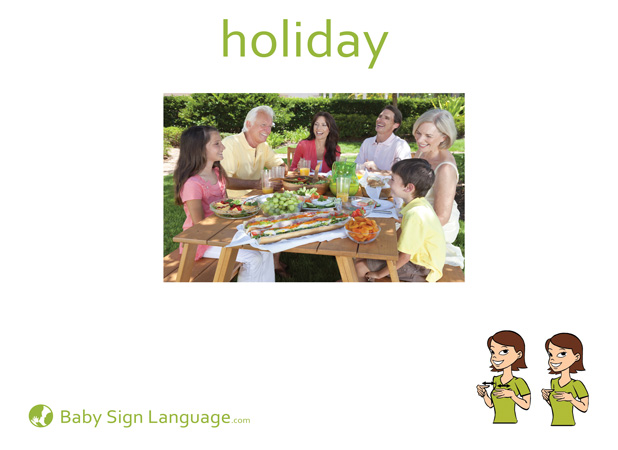 Holiday Baby Sign Language Flash card