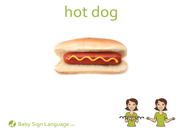 Hot Dog Baby Sign Language Flash card
