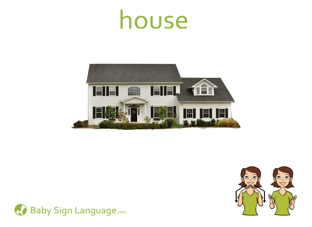 House Baby Sign Language Flash card
