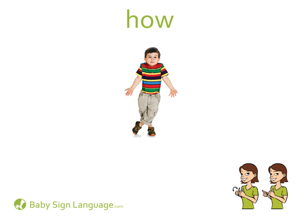 How Baby Sign Language Flash card