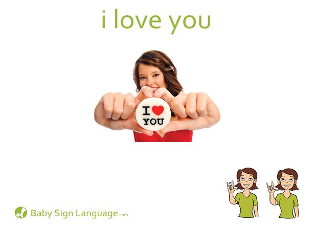 I Love You Baby Sign Language Flash card