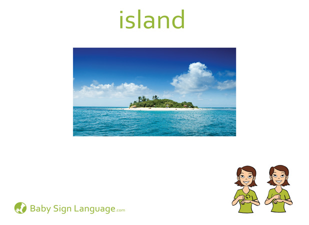 Island Baby Sign Language Flash card