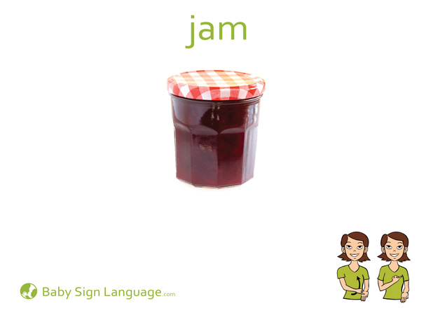 Jam Baby Sign Language Flash card