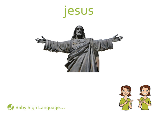 Jesus Baby Sign Language Flash card