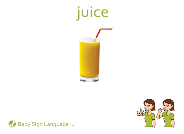 Juice Baby Sign Language Flash card