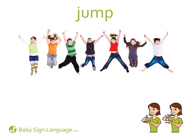 Jump Baby Sign Language Flash card
