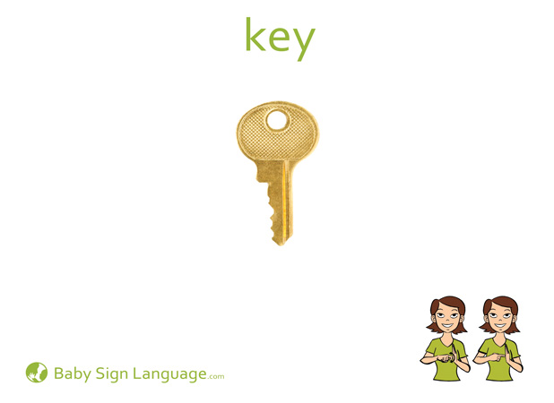 Key Baby Sign Language Flash card