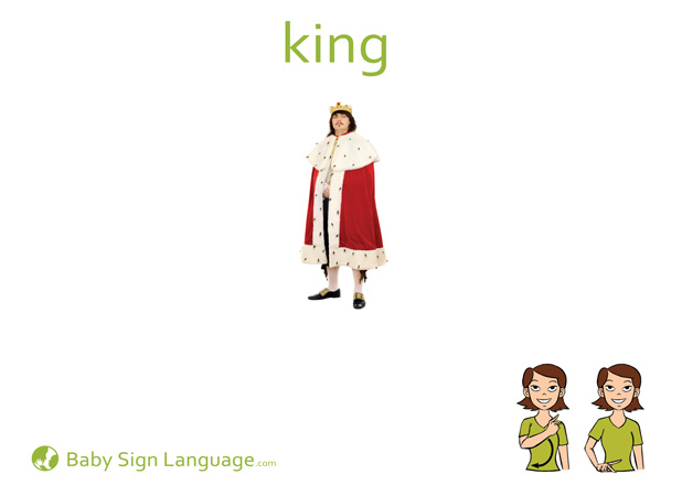 King Baby Sign Language Flash card