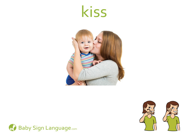 Kiss Baby Sign Language Flash card