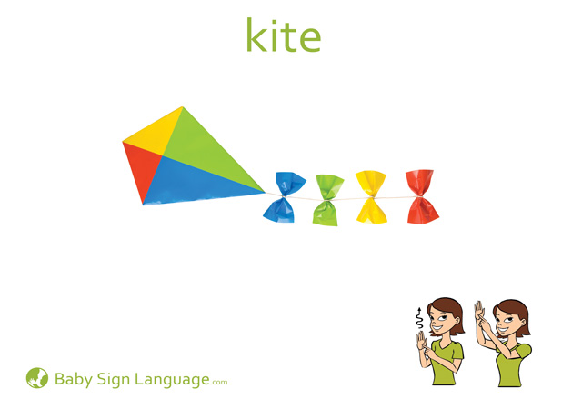 Kite Baby Sign Language Flash card
