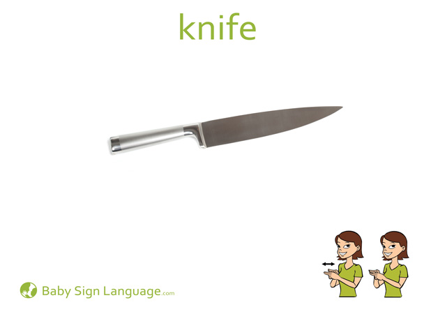 Knife Baby Sign Language Flash card