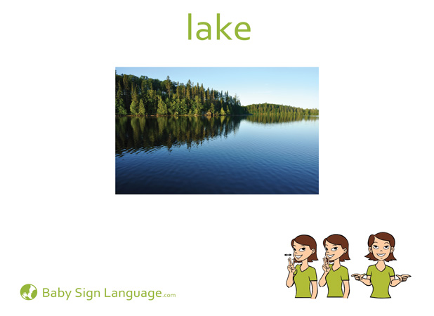 Lake Baby Sign Language Flash card