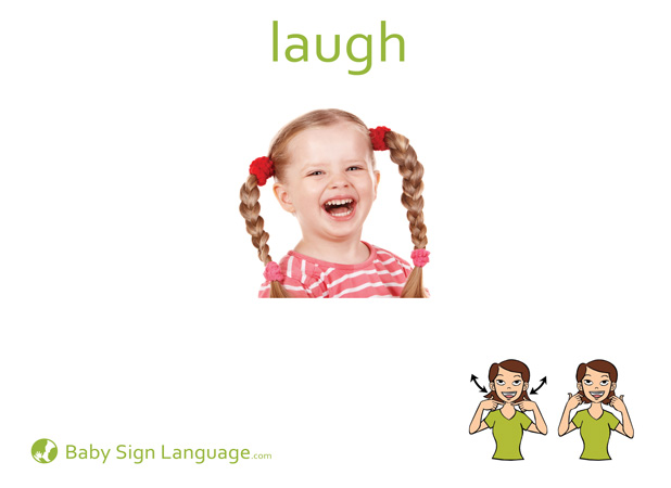 Laugh Baby Sign Language Flash card