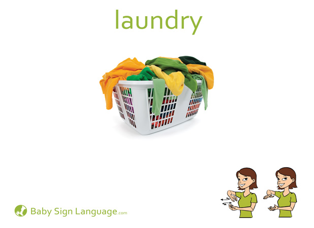 Laundry Baby Sign Language Flash card
