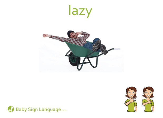 Lazy Baby Sign Language Flash card