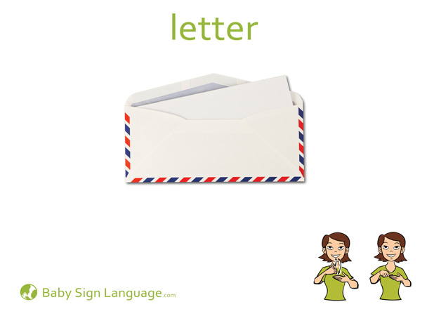 Letter Baby Sign Language Flash card