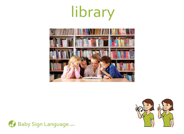 Library Baby Sign Language Flash card