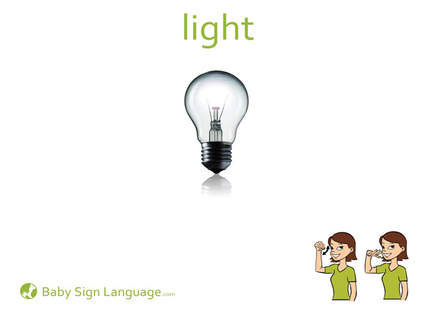 Light Baby Sign Language Flash card