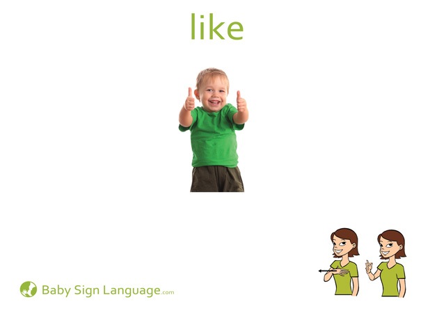 Like Baby Sign Language Flash card