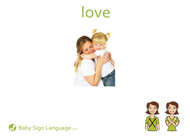 Love Baby Sign Language Flash card