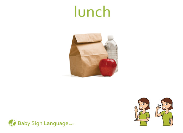 Lunch Baby Sign Language Flash card