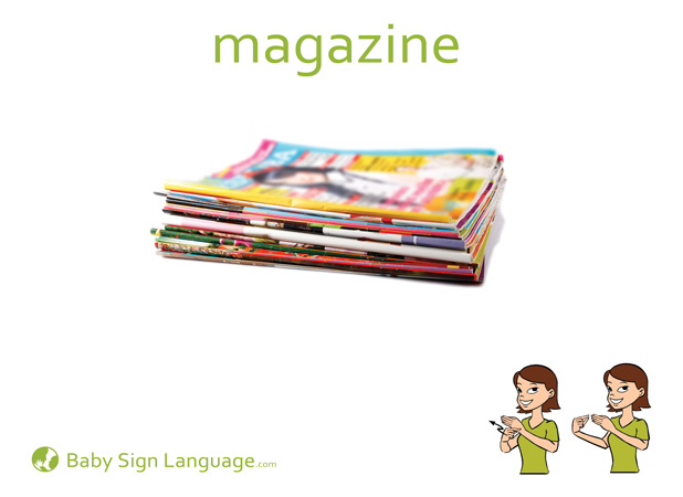 Magazine Baby Sign Language Flash card