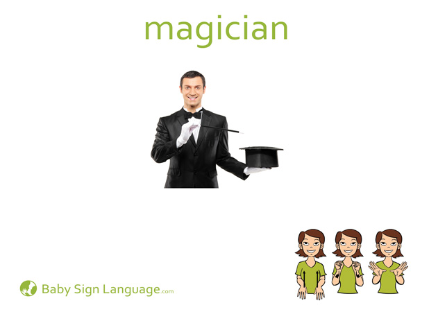 Magician Baby Sign Language Flash card