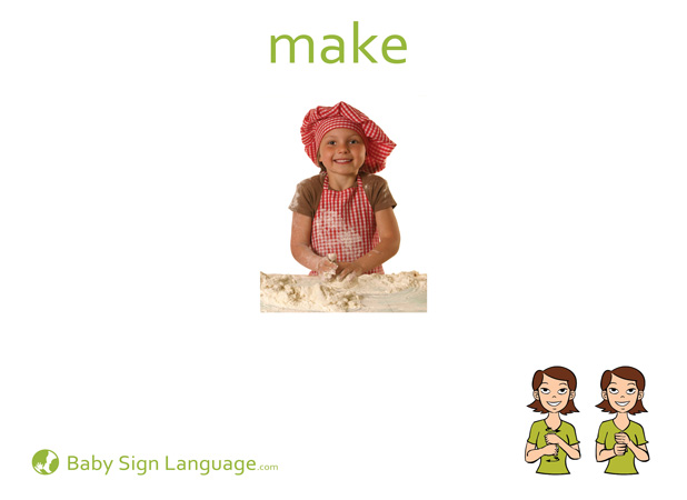 Make Baby Sign Language Flash card