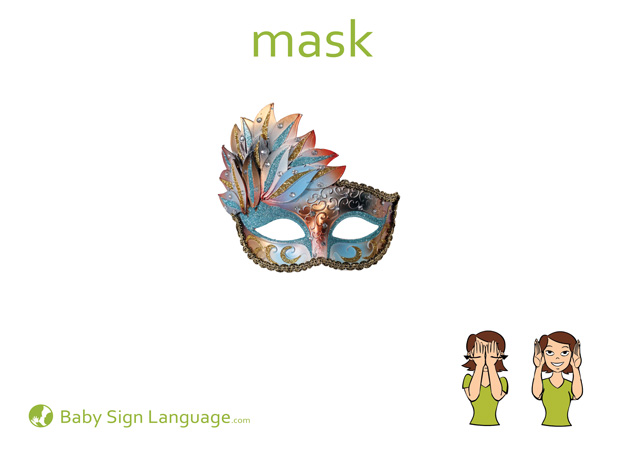 Mask Baby Sign Language Flash card
