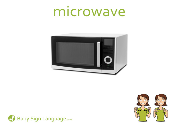 Microwave Baby Sign Language Flash card