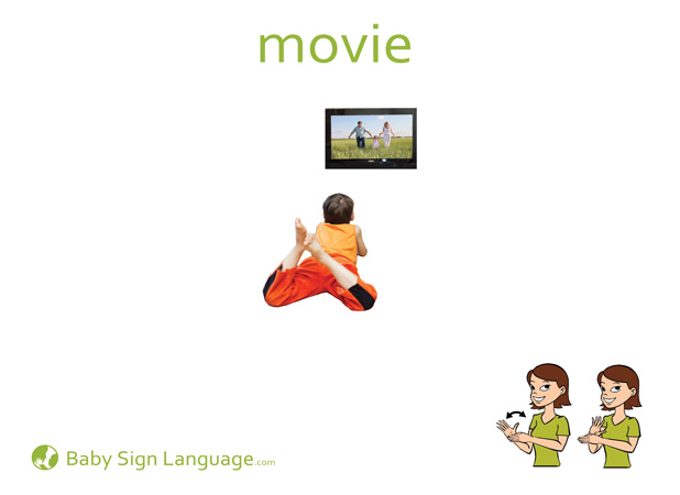 Movie Baby Sign Language Flash card