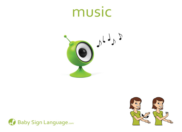 Music Baby Sign Language Flash card