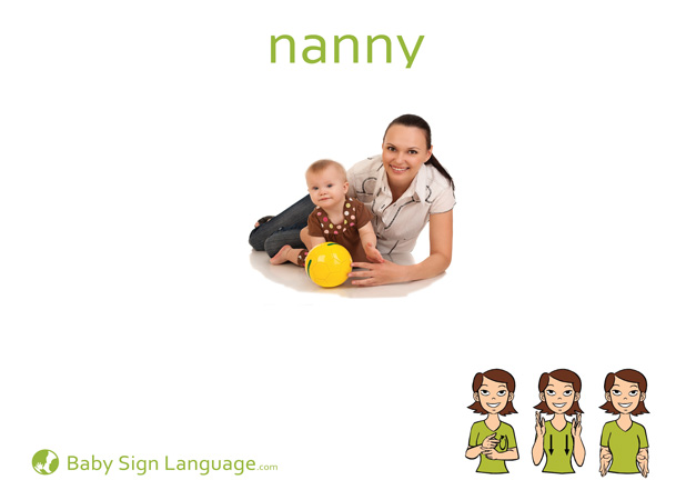Nanny Baby Sign Language Flash card