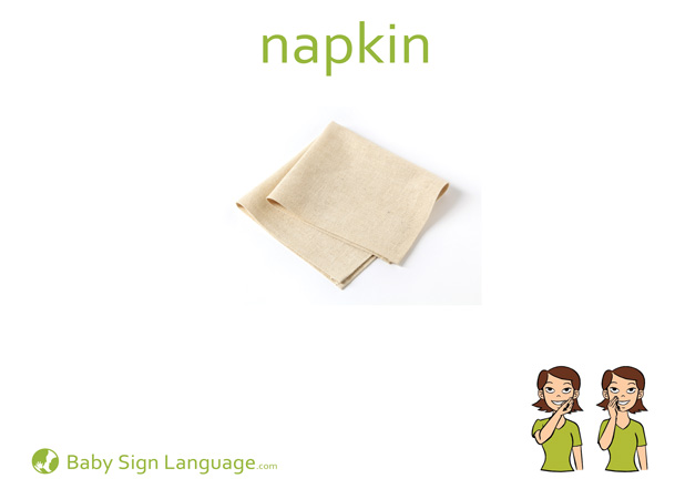 Napkin Baby Sign Language Flash card