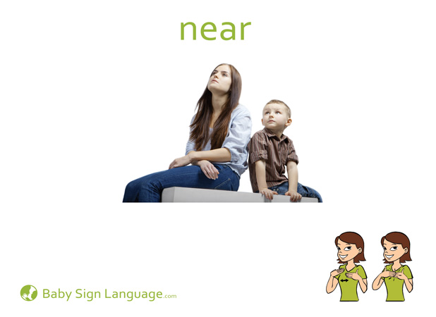 Near Baby Sign Language Flash card