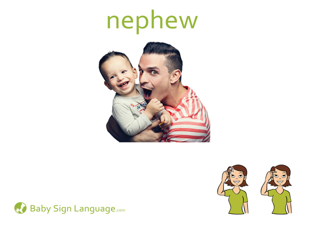 Nephew Baby Sign Language Flash card