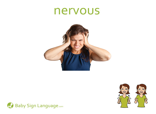 Nervous Baby Sign Language Flash card