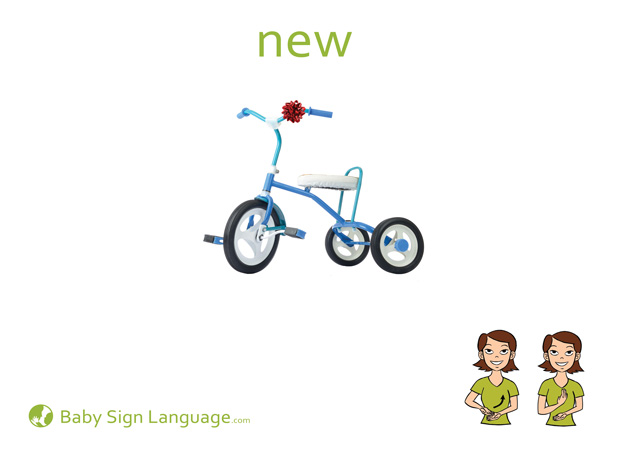 New Baby Sign Language Flash card
