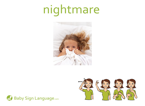 Nightmare Baby Sign Language Flash card