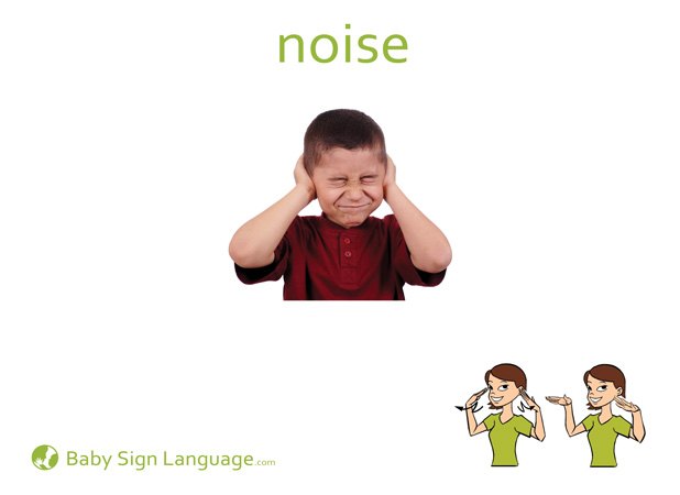 Noise Baby Sign Language Flash card