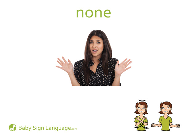 None Baby Sign Language Flash card