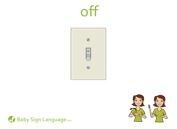 Off Baby Sign Language Flash card