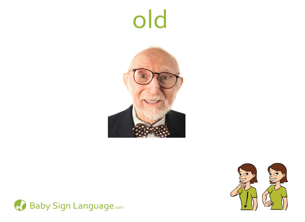 Old Baby Sign Language Flash card