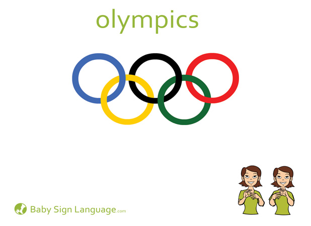 Olympics Baby Sign Language Flash card