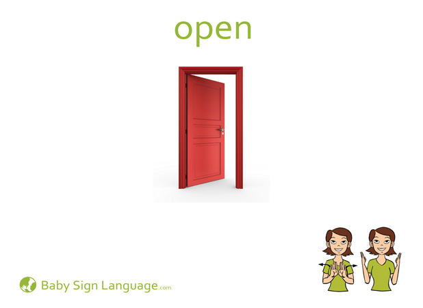 Open Baby Sign Language Flash card
