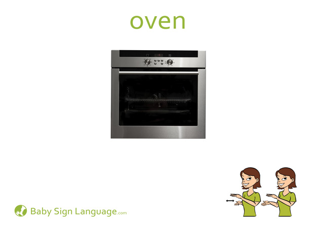Oven Baby Sign Language Flash card