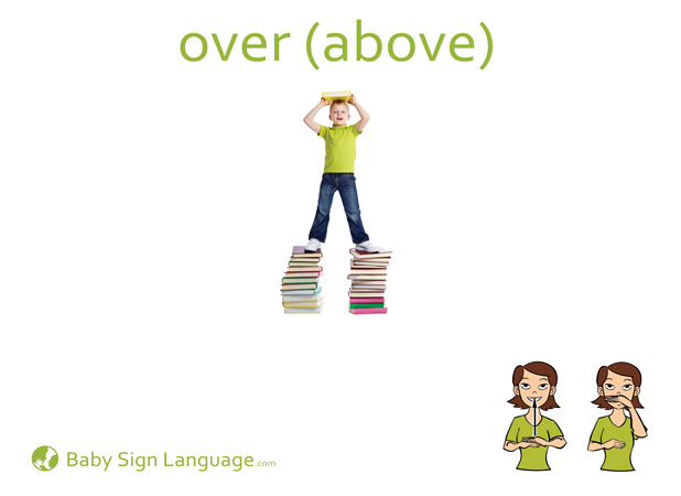 Over Baby Sign Language Flash card