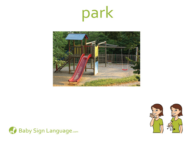 Park Baby Sign Language Flash card